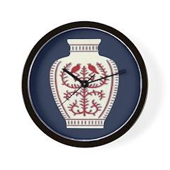 Asian Vase (Blue) Wall Clock