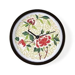 Delicate Blossoms Wall Clock