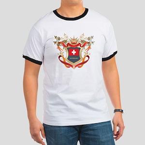 Swiss flag emblem Ringer T