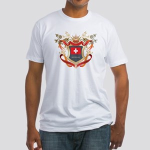 Swiss flag emblem Fitted T-Shirt