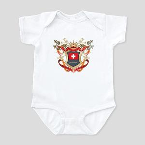 Swiss flag emblem Infant Bodysuit
