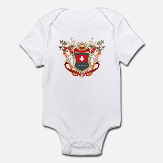 Swiss flag emblem Infant Bodysuit
