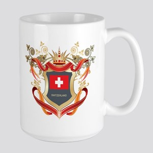 Swiss flag emblem Large Mug