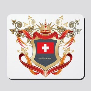 Swiss flag emblem Mousepad
