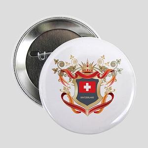 """Swiss flag emblem 2.25"""" Button"""