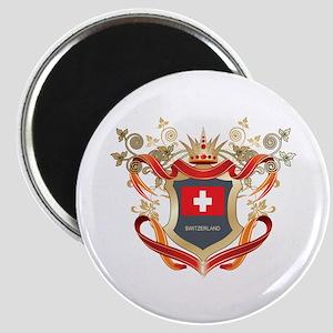 Swiss flag emblem Magnet