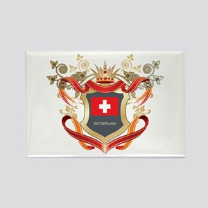 Swiss flag emblem Rectangle Magnet