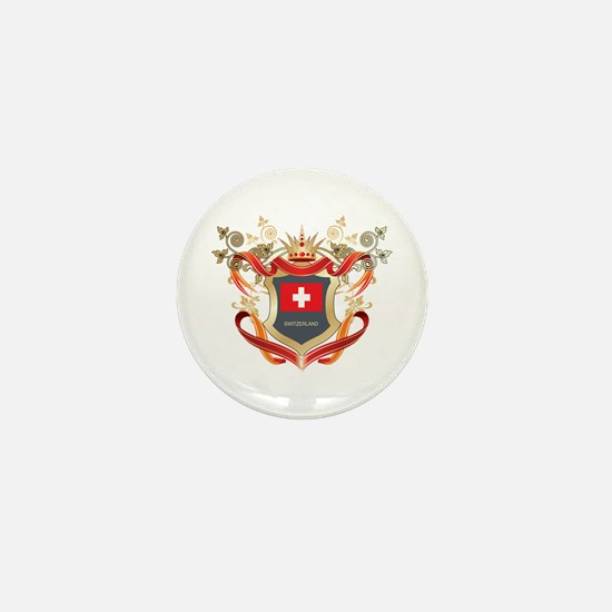 Swiss flag emblem Mini Button