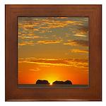 Framed Tile - Costa Rica Sunset