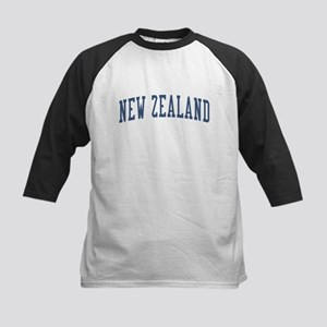 New Zealand Blue Kids Baseball Jersey