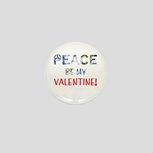 Valentine's Day Peace Mini Button