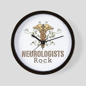Neurologists Rock Caduceus Wall Clock