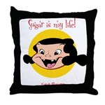 Lil Baker Sugar Throw Pillow