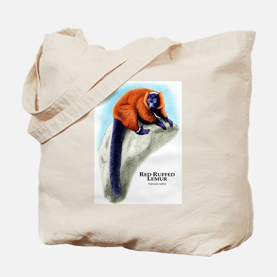 Red Ruffed Lemur Tote Bag