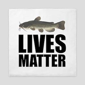 Catfish Lives Matter Queen Duvet