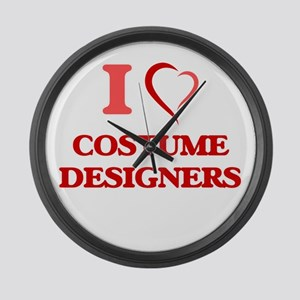 I love Costume Designers Large Wall Clock