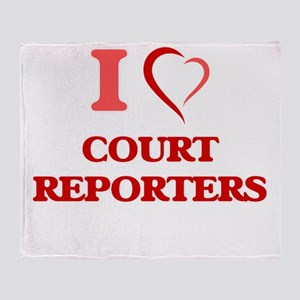 I love Court Reporters Throw Blanket