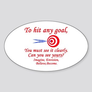 Hit Your Goal Oval Sticker