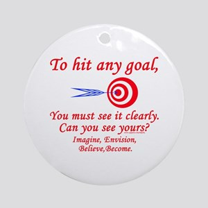 Hit Your Goal Ornament (Round)