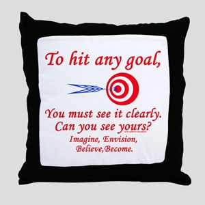 Hit Your Goal Throw Pillow