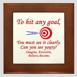 Hit Your Goal Framed Tile
