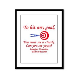 Hit Your Goal Framed Panel Print