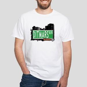 DITMARS BOULEVARD, QUEENS, NYC White T-Shirt