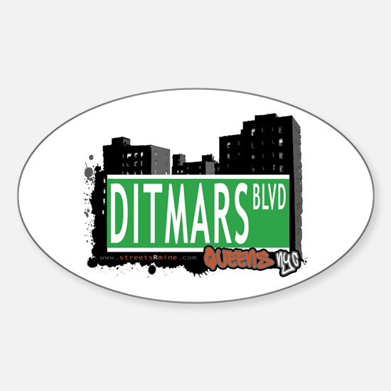 DITMARS BOULEVARD, QUEENS, NYC Oval Decal