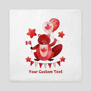 Custom Happy Canada Day Queen Duvet