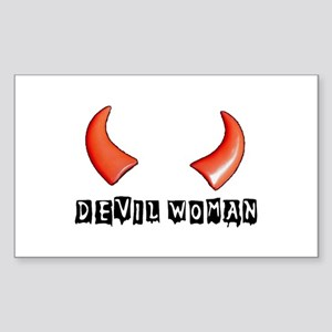 DEVIL WOMAN Rectangle Sticker