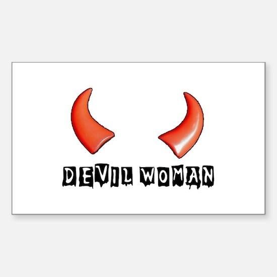 DEVIL WOMAN Rectangle Decal