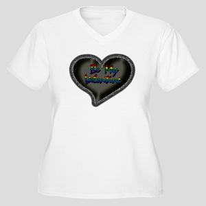 Gay Be My Valentine Women's Plus Size V-Neck T-Shi