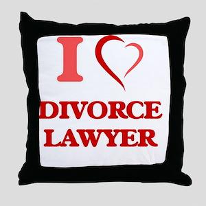 I love Divorce Lawyer Throw Pillow