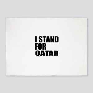 I Stand For Qatar 5'x7'Area Rug