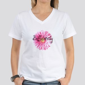 Buffalovely Gerber Daisy Women's V-Neck T-Shirt