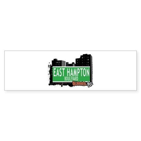 EAST HAMPTON BOULEVARD, QUEENS, NYC Sticker (Bumpe