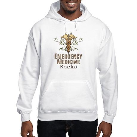 Emergency Medicine Rocks ER Doc Hooded Sweatshirt