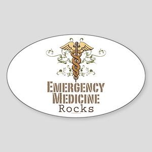 Emergency Medicine Rocks ER Doc Oval Sticker