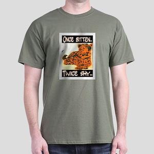 ONCE BITTEN - TWICE SHY Dark T-Shirt