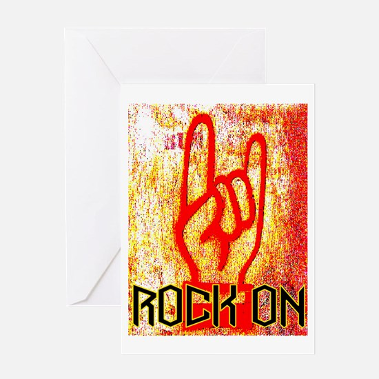 ROCK ON - RED Greeting Card