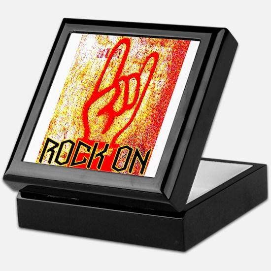ROCK ON - RED Keepsake Box