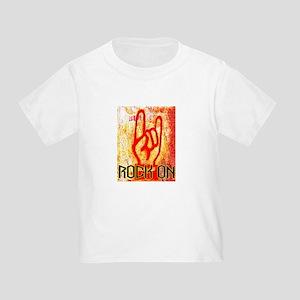 ROCK ON - RED Toddler T-Shirt