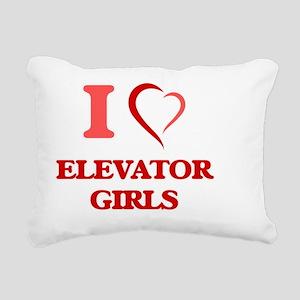I love Elevator Girls Rectangular Canvas Pillow