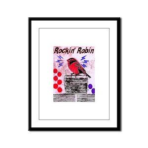 ROCKIN' ROBIN Framed Panel Print