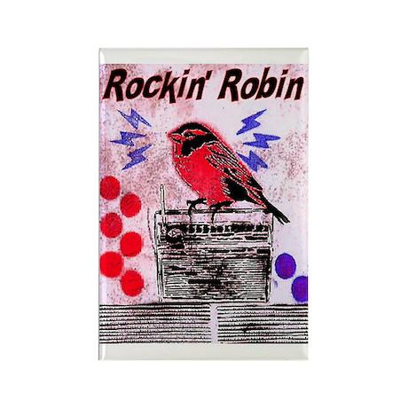 ROCKIN' ROBIN Rectangle Magnet (10 pack)
