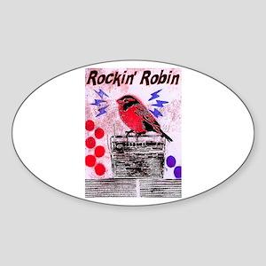 ROCKIN' ROBIN Oval Sticker