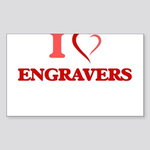 I love Engravers Sticker