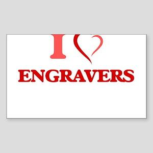 I love Engravers Sticker