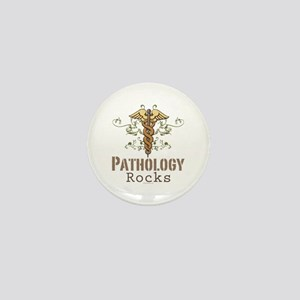 Pathology Rocks Caduceus Mini Button