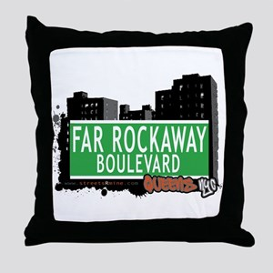 FAR ROCKAWAY BOULEVARD, QUEENS, NYC Throw Pillow